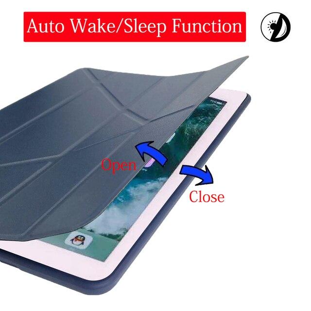 Funda para iPad Mini 3 2 1 Funda de cuero PU silicona suave cubierta trasera con soporte Trifold Auto Sleep Smart Funda para iPad Mini2 Funda