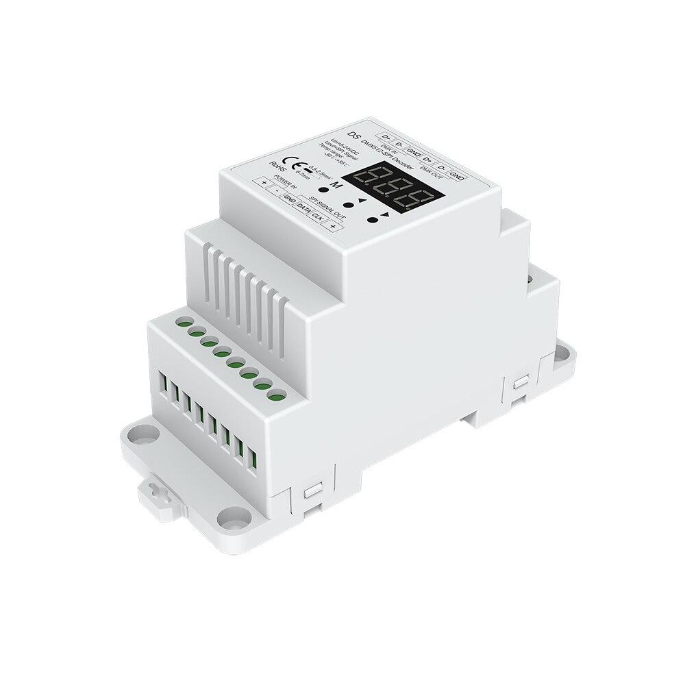 DMX Décodeur SPI Contrôleur DMX512 à SPI Convertisseur Compatible avec sortes de Numérique IC LED Bande Pixel Bande Lumière