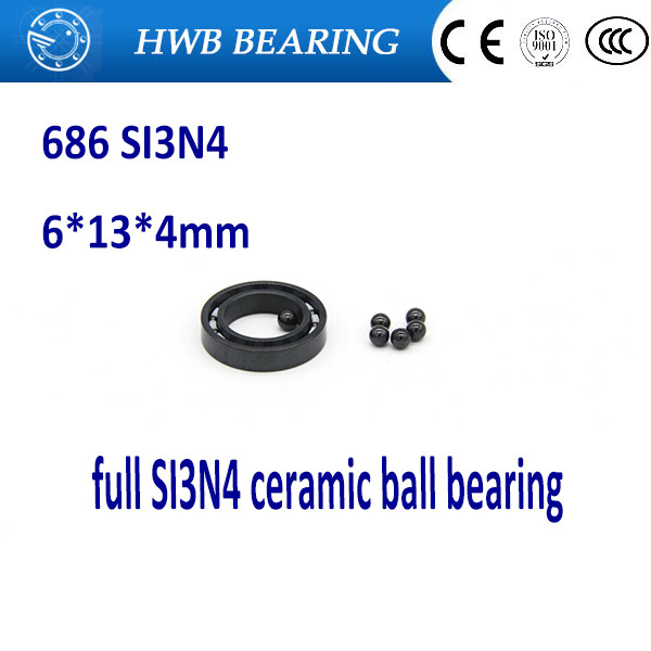 Free shipping 686 full SI3N4 ceramic deep groove ball bearing 6x13x3.5mm for bike part free shipping 6901 61901 si3n4 full ceramic bearing ball bearing 12 24 6 mm