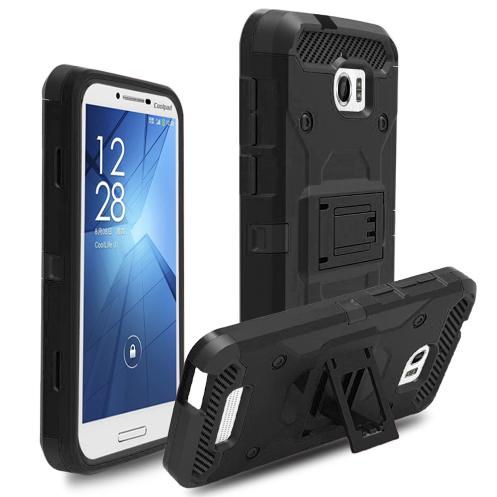 Case For Coolpad Defiant 3632 Heavy Duty Hybrid Rugged Case Belt Clip Holster Shockproof Hard Cover For CoolPad Defiant 3632 }