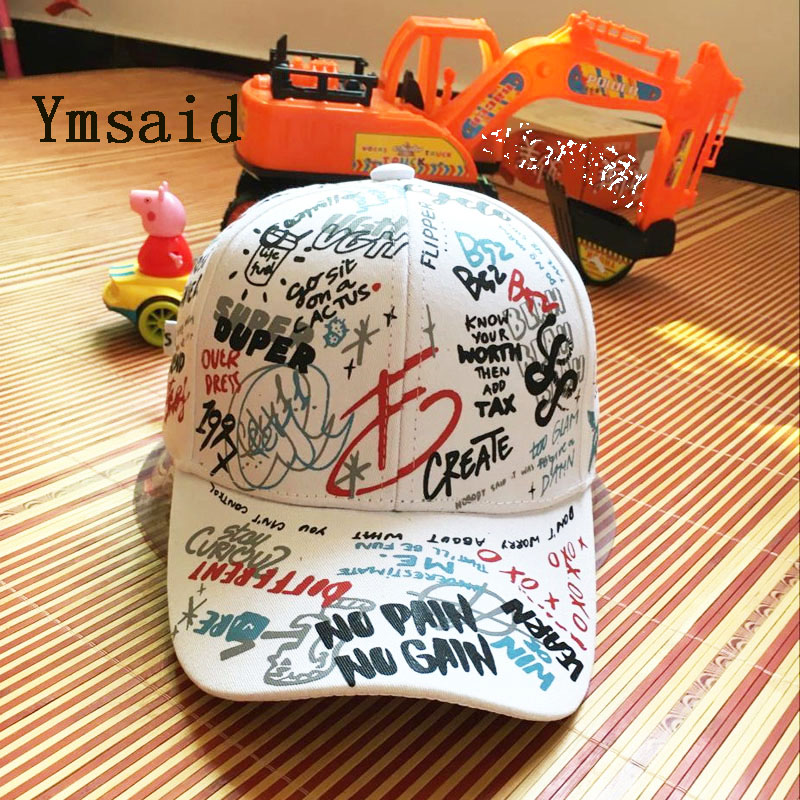 Adult Graffiti Letter Ribbon White Black Flat Baseball Cap Cotton Casual Hat Hip Hop Snapback Cap Wholesale Retail Free Delivery cn rubr fashion embroidery letter casual baseball cap outdoor climbing hip hop cap 6 colors cotton unisex spring summer hat
