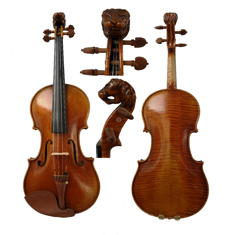 Free Shipping Handmade FPVN04 Oil Varnish Violin + Carbon Fiber Bow Foam  Case