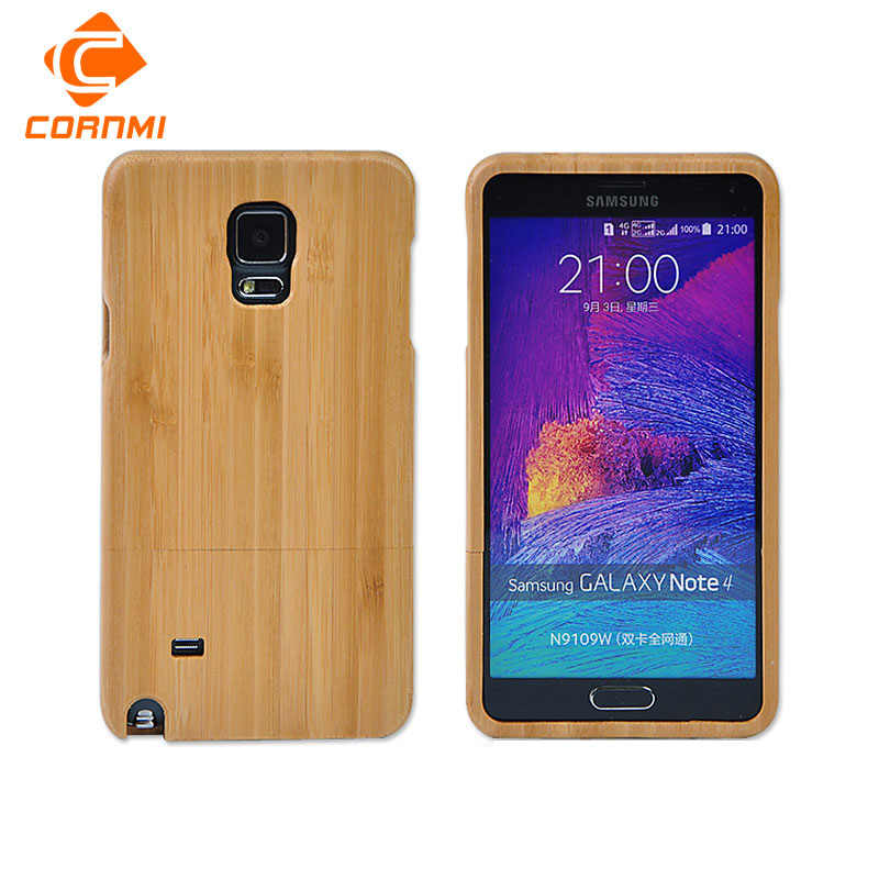 Retro Wood Case For Samsung Galaxy Note 4 N9100 Back Cover Rosewood Walnut wood For Samsung note 4 N910F N910C Shell CORNMI