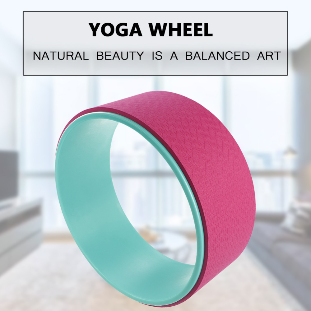 Yoga Circles Pilates Professional Waist Shape Bodybuilding fitness Gym Workout Yoga Wheel Back Training Tool TPE