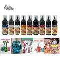 USA Importiert 11 farben Acryl Transparent Glas Farbe GLS Pigment Färbung kinder DIY glas tasse platte vase ungiftig Aquarell Büro- und Schulmaterial -