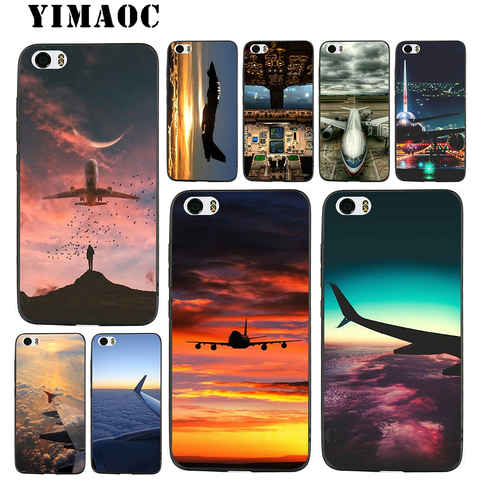YIMAOC <font><b>Amazing</b></font> Airplane Soft Silicone Case for <font><b>Xiaomi</b></font> Redmi 6 Note 4X 4A 5A 5 Plus MiA1 A2 Pro Lite Mi 8 6 A1 A2 image