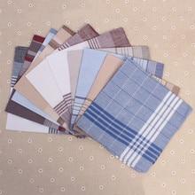 5 шт случайный цвет Мужчины Женщины Карманный платок квадраты плед полосатый платок носовой платок повседневное полотенце для сундуков шарфы для свадебной вечеринки