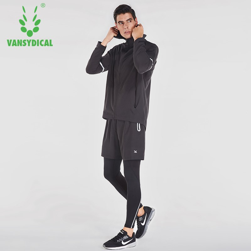 Conscientious Vansydical Mens Running Suits Winter Trainning Tracksuit Warm 4pcs Sport Suits Man Gym Clothing Sportswear Fitness Jacket Men Security & Protection Cctv Accessories