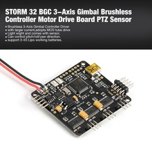 STORM 32 BGC 3-Axis 3-4S Gimbal Brushless Controller Motor Drive Board PTZ Sensor Plate for RC Racing FPV Drone Quadcopter magnetic encoder as5048a for alexmos basecam electronics gimbal controller and brushless gimbal motor dslr gimbal