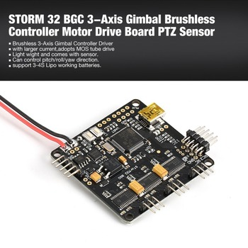 STORM 32 BGC 3-Axis 3-4S Gimbal Brushless Controller Motor Drive Board PTZ Sensor Plate for RC Racing FPV Drone Quadcopter
