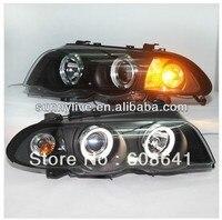 For BMW E46 Head lamp 4 doors Angel Eyes 1998 2001 year