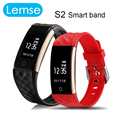 Lemse S2 sports Smart band heart rate monitor wristband for android IOS phone sleep tracking remote control