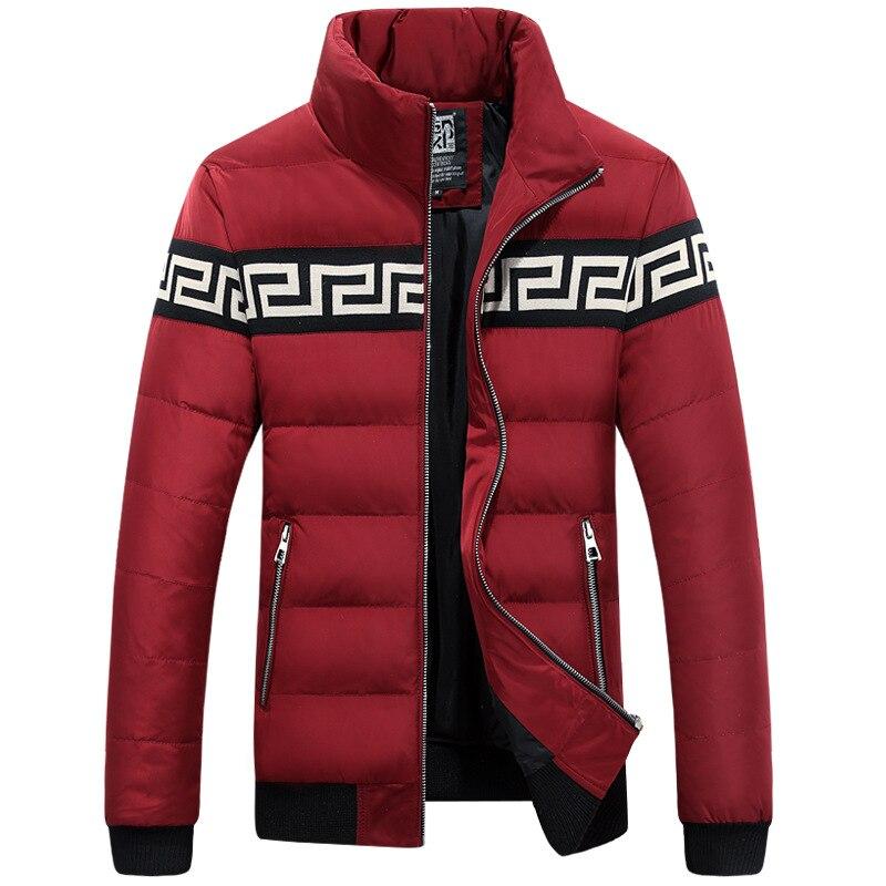 Men s jacket collar male Korean fashion Slim outwear Windbreaker Windproof warm Jackets Down Coats parka