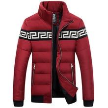 Мужская куртка воротник мужской Корейской моды Тонкий и пиджаки Ветровка Ветрозащитный теплые Куртки Вниз Пальто куртка Плюс размер