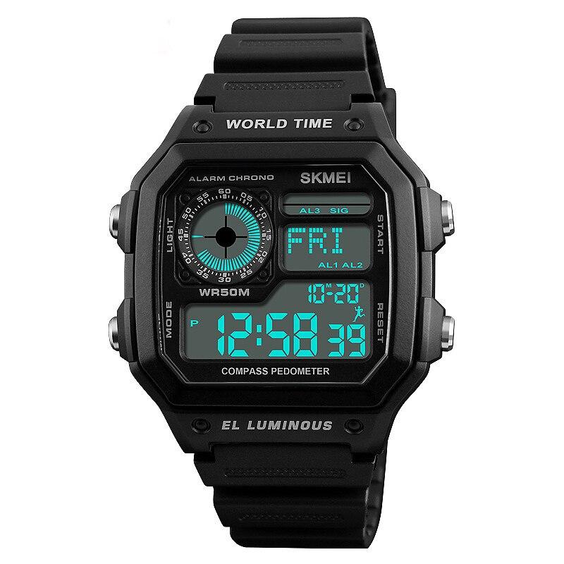 Digital Watches Zk30 Outdoor Sport Watch Men Compass Military Watches Countdown Chrono 5bar Waterproof Digital Watch Relogio Masculino 1254