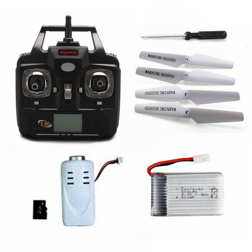 Syma X5C Remote Control With Battery And Camera Set 3pcs lithium battery and european regulators with 1 care 3 conversion cable for syma x8sw x8sc remote control helicopter battery