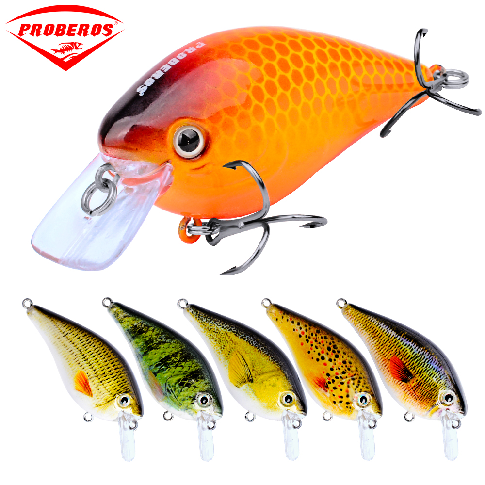 6PC Minnow Fishing Lure with 3PX-4# BKB Hooks Artificial Bassbait Fishing Tackle
