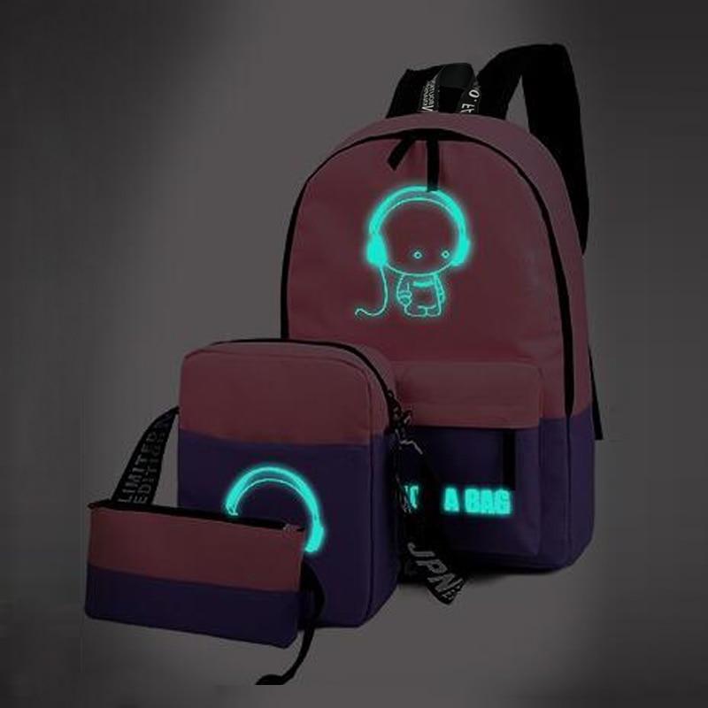 mochilas sacolas de escola de Tipo de Estampa : Geométrica