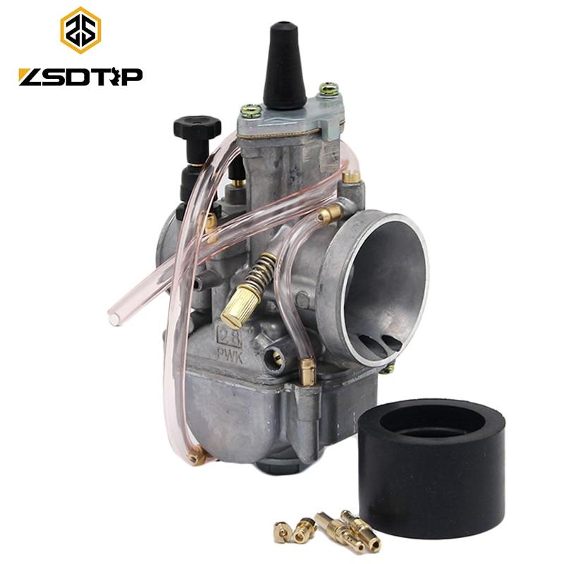 ZSDTRP Carburetor Motorcycle 2T Stroke Engine Parts Scooters Dirt Bike ATV 21 24 26 28 30 32 34mm with Power Jet Racing Moto