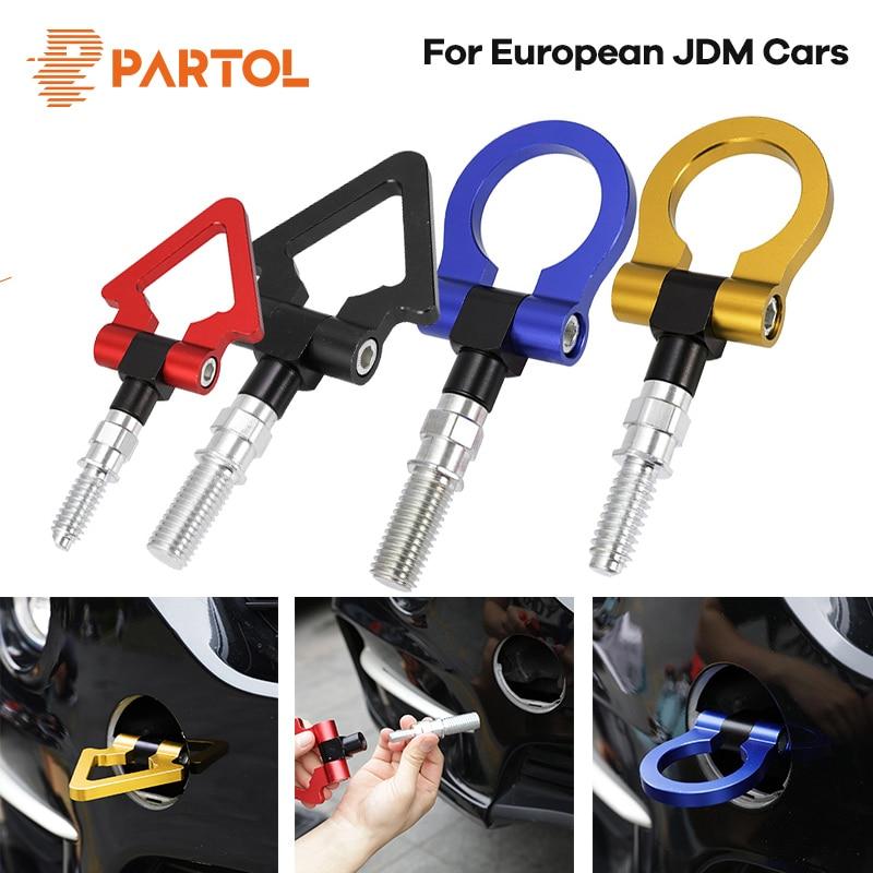 Partol Universal Car Tow Hook JDM Racing Towing Bar Auto Trailer Tow Hook For BMW Honda Subaru Toyota European Japanese Vehicle цена