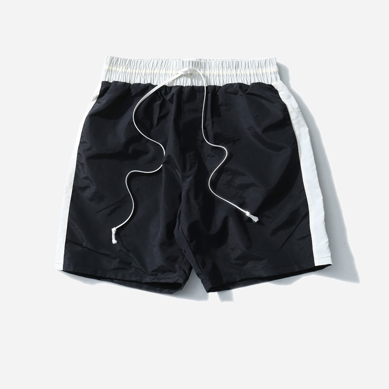 2018 Summer Mens Side Striped Short Pants Casual Man Jogger Shorts Street Wear Hip Hop Knee Length Elastic Waist Loose Pants