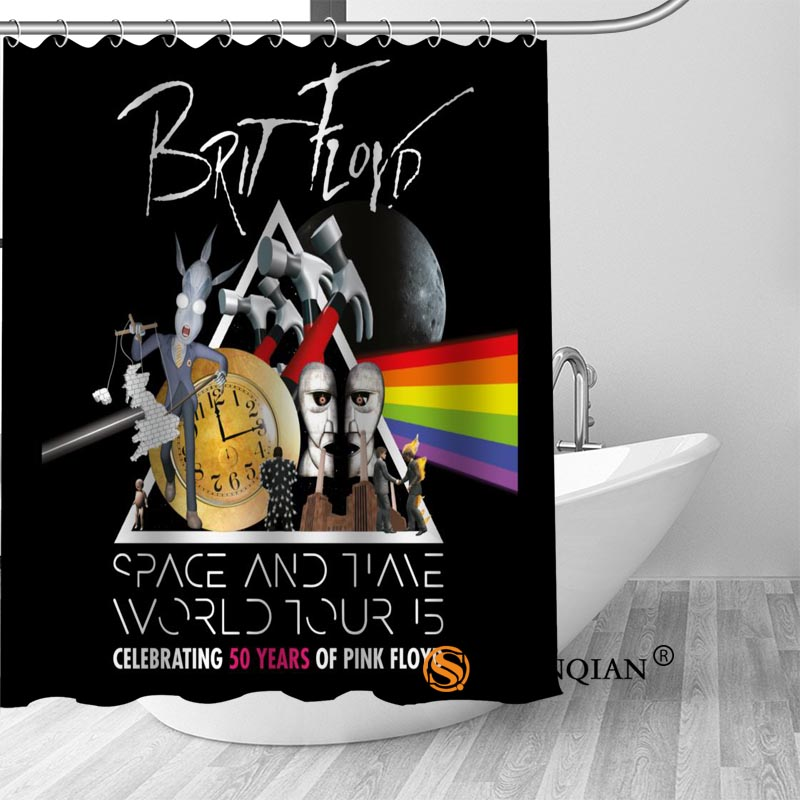 pink floyd dark Bath Curtain 100% polyester Fabric Shower Curtain bathroom beautiful Bath decor Print your picture