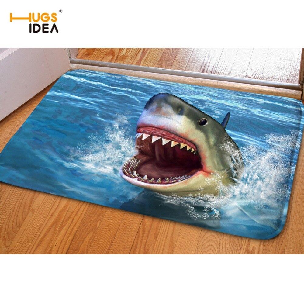 HUGSIDEA Carpets 3D Cool Animal Dolphin Print Home Floor Carpet for Living Room Bedroom Non-slip Kitchen Mat Rugs Tapis Alfombra