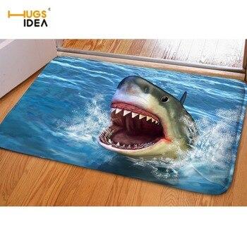 HUGSIDEA-alfombras 3D con estampado de delfines para el hogar, antideslizantes, para sala...