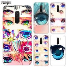 Heart Silicone Case For Xiaomi Pocophone F1 Mi 5S Plus 5X 6X A1 A2 8 lite 9 SE Max 3 Pro Note 2 Cover Charming Beautiful Eyes