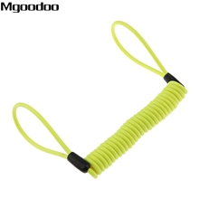 1.5m Cable Bicycle Lock Rope Helmet Wire Anti-theft Protect Motorcycle Motorbike Disc Security Reminder Lanyard Spring