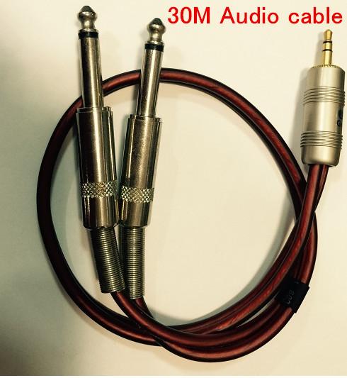 Rápido Envío Gratis 30 M de Uno a Dos cable de Audio de 3.5 de apertura de cama doble 6.5 cable conector de sonido del ordenador cables de consola/aux de cobre Puro