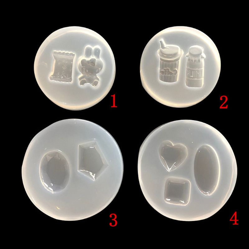 Mini Candy Gemstone Rabbit Pendant Jewelry Making Epoxy Resin Mold Jewelry Tools