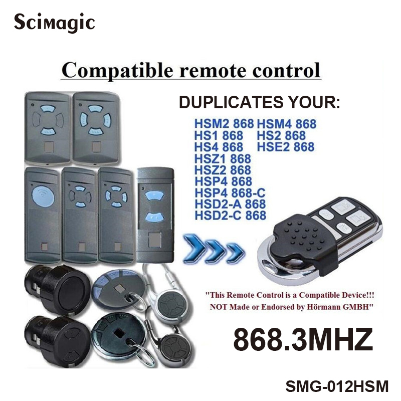 4 channel Hormann HSM4 868 mhz remote control Compatible with HSM2 HSM4 868MHz remote free shipping