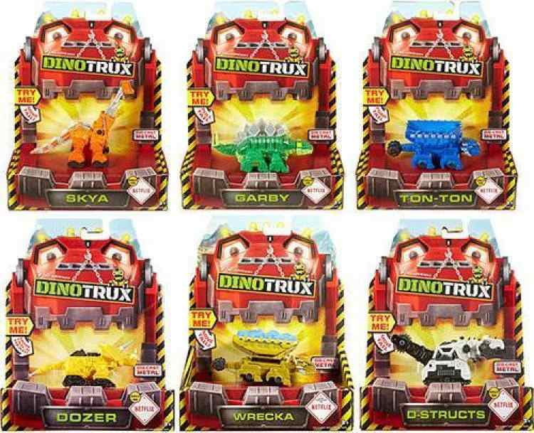 With original box Dinotrux Dinosaur Truck Removable Dinosaur Toy Car Mini Models New Children's Gifts Dinosaur Models