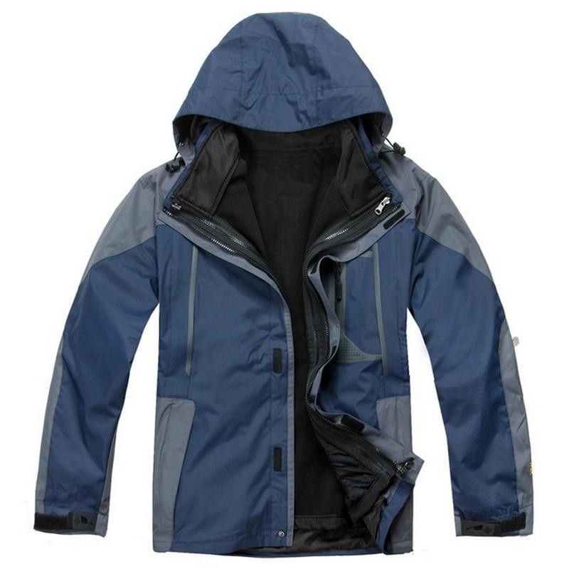 ФОТО Men's jackets outdoor mountaineering jacket leisure travel two set coat+linner Hiking skiing jacket