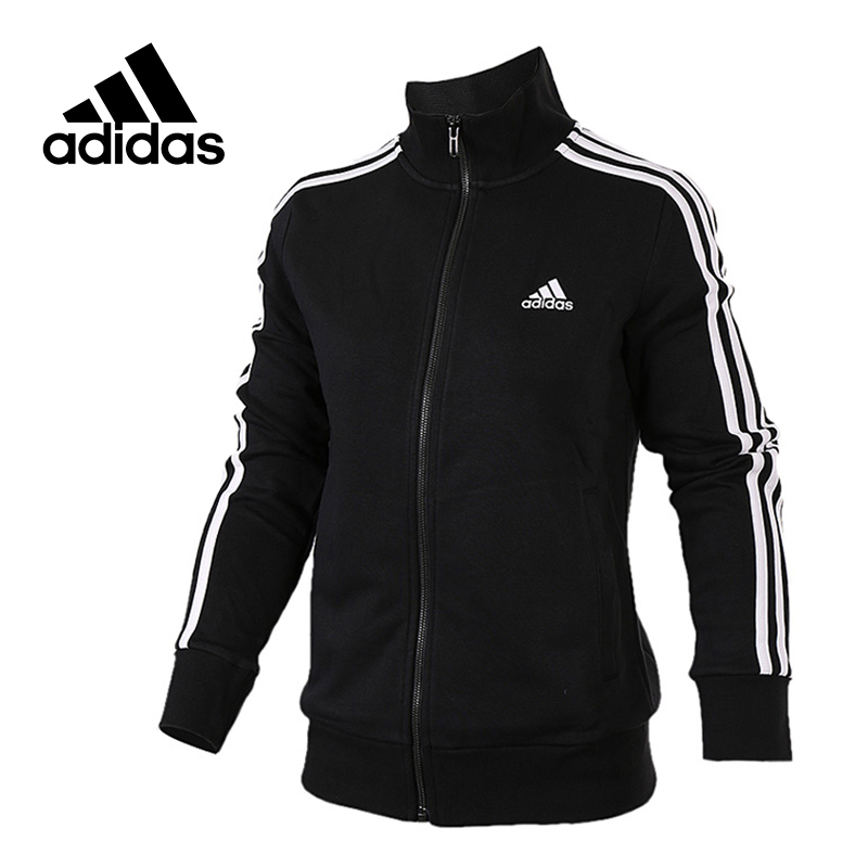 Original New Arrival Official Adidas Women's Jacket Breathable Stand Collar Training Sportswear stand collar 3d flower printed jacket
