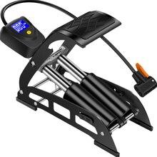 Портативный высоковольтный алюминиевый сплав мини электрический автомобиль, мотоцикл автомобиль домашняя педаль цифровой дисплей Воздушный велосипедный насос с Di