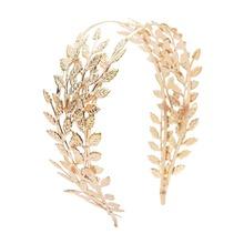 Nowe podwójne złote liście Hairbands ślubne nakrycie głowy ślubne akcesoria do włosów korony ślubne złote tiary czoło głowy biżuteria tanie tanio idealway Ze stopu cynku Kobiety F-0480-2 F-0248-2 F-0557-2 PLANT TRENDY Hairwear Moda Metal alloy leaf gold silver women girls lady bohemian female bridal