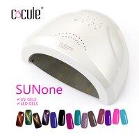 Cocute SUNone 48 W Tırnak Kurutucu UV Lambası Oje Kurutucu Işık LED 5 S 30 S 60 S Kurutma Jel Kür Nail Art Manikür Araçları