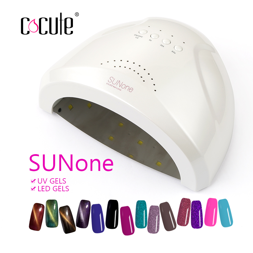 Cocute SUNone 48W Nail Dryer UV Lamp Nail Polish Dryer Light LED 5S 30S 60S Drying Gel Curing Nail Art Manicure Tools