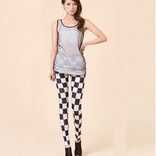 Rock Punk Vertical Stripe Leggings Zebra Skinny Pants Legwear(China (Mainland))