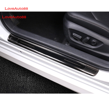 Exterior Outer Threshold Door Sill Decoration Strip Welcome Pedal  For Toyota Camry 2018 Car Styling Stickers Accessories
