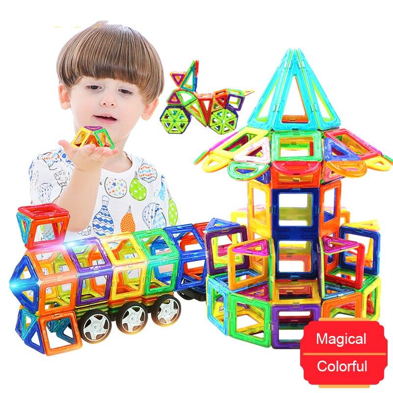 Big Size Magnetic Designer Construction Set Model & Building Toy Magnets Magnetic Blocks Educational Toys For Children