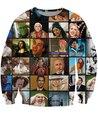Nueva moda Nicolas Cage Rage caras jerséis con capucha de impresión 3d carácter Hip hop sudaderas camisa larga hombres / mujeres