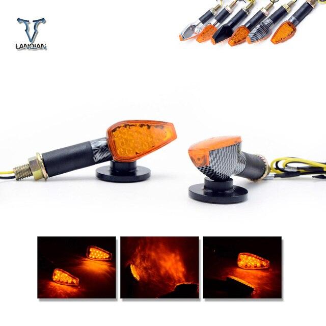 אוניברסלי LED אופנוע LED גמיש איתות אינדיקטורים אורות/מנורת עבור ktm 690 smc/690 smc r/690 דוכס/דוכס 690 r
