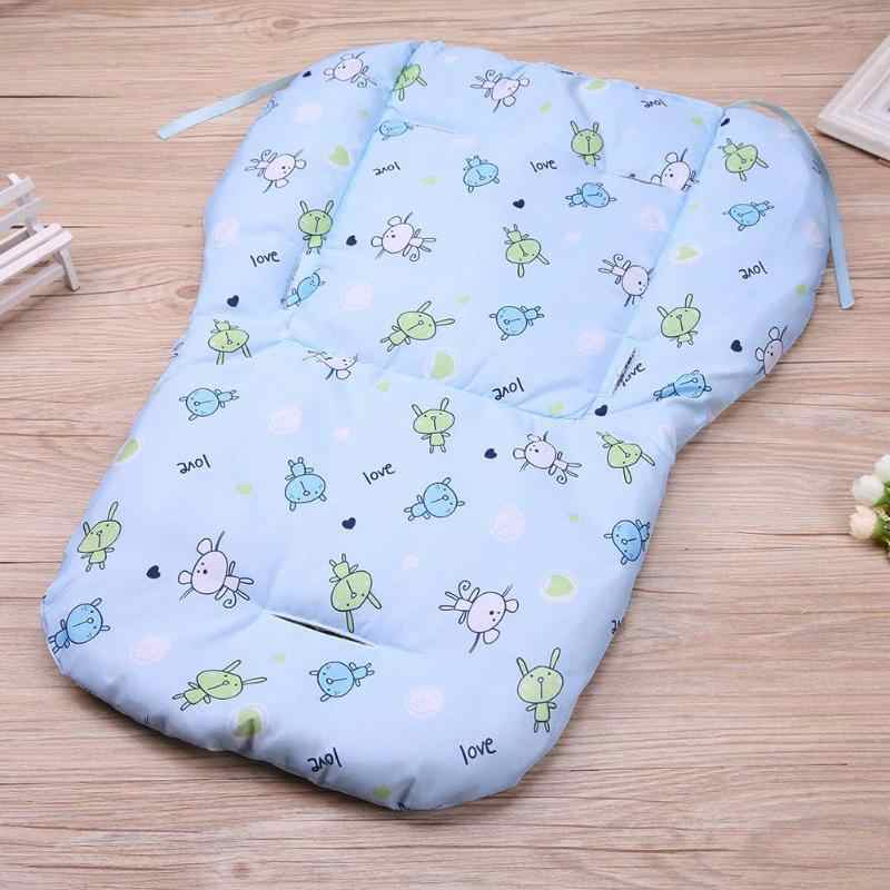 Baby Stroller Seat Pad Baby Car Carriage Cart Seat Cushion Safe Thicken Pushchair Pillow Cover Kids High Chair Seat Mat Seat Pad