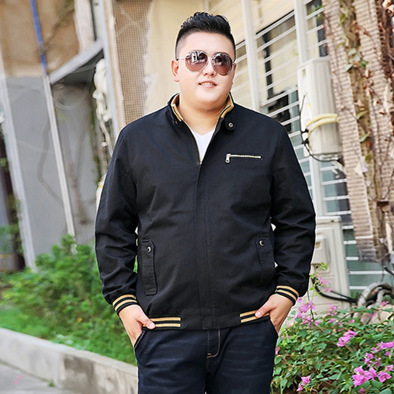 17b07b1731f52 Large size jacket men plus fertilizer increase business casual loose fat  guy coat young jacket jacket men black plus size-in Jackets from Men s  Clothing on ...