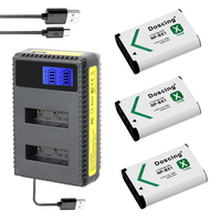 3X NP BX1 Bateria NP BX1 Battery+Dual LED Charger for Sony DSC RX1 RX100 AS100V M3 M2 HX300 HX400 HX50 HX60 GWP88 AS15 WX350
