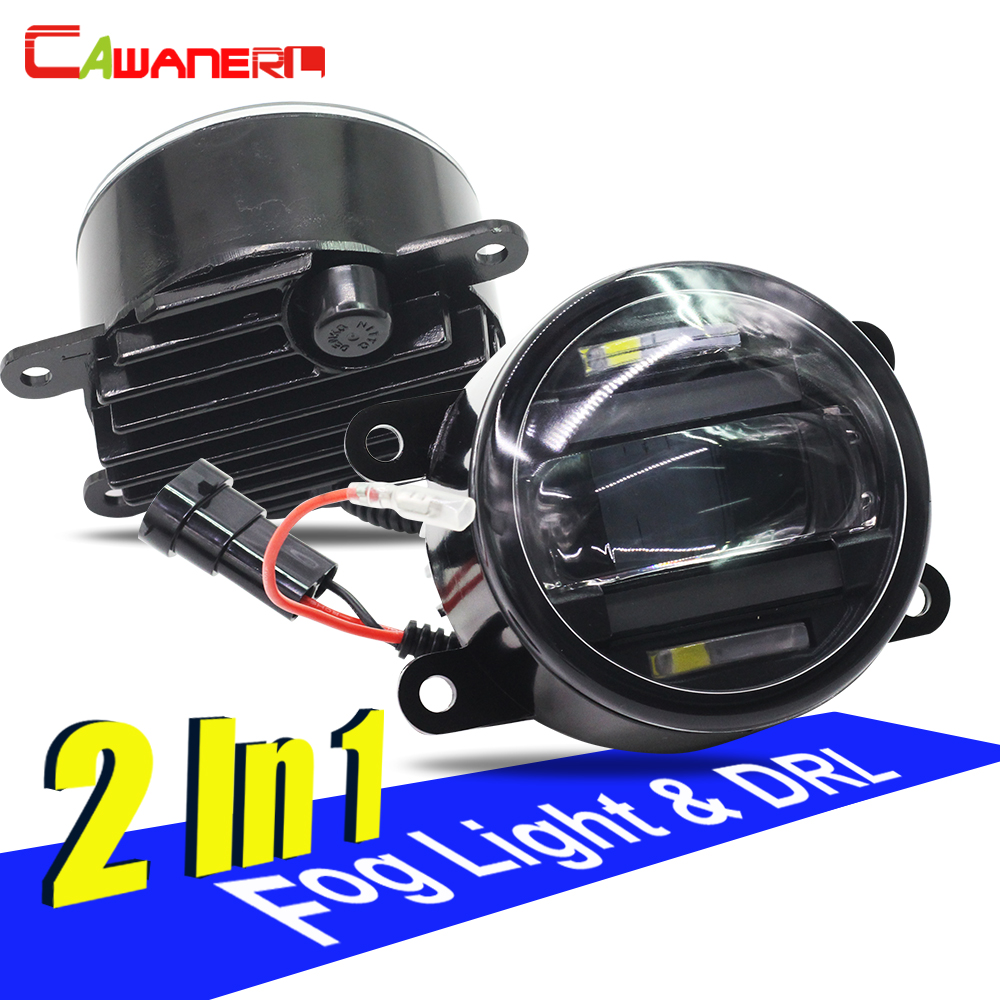 Cawanerl For Renault Megane Laguna Scenic Logan Duster Latitude Koleos Twingo Car Styling LED Fog Light DRL Daytime Running Lamp renault megane coupe 1999
