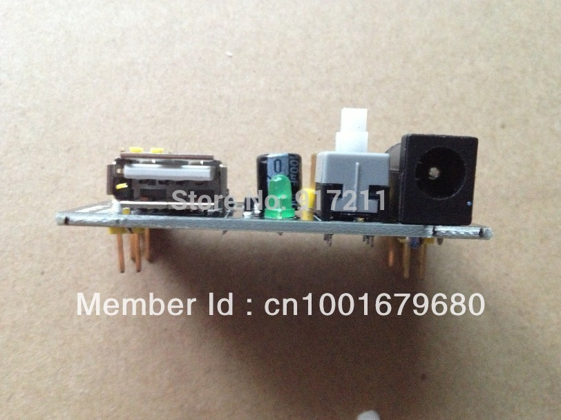 5pcs/lot Breadboard Power Supply Module 3.3V 5V MB102 Solderless Bread Board DIY 2012 New dedicated power module